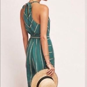 Jumpsuit by Anthropologie, green with stripes